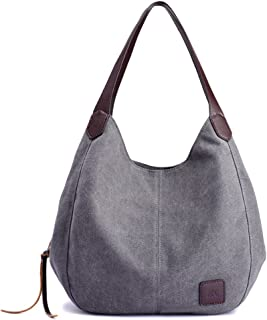 gray canvas purse