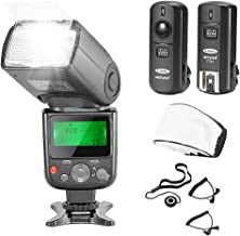 Neewer NW-670 TTL Flash Speedlite with LCD Display Kit for Canon DSLR Cameras,Includes:(1)NW-670 Flash,(1)2.4 GHz Wireless...