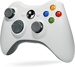 Wireless Controller for Xbox 360, Tiiroy 2.4GHZ Wireless Controller Joystick Gamepad Remote for Xbox360 PC Windows 7,8,10 (White)
