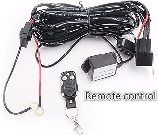 Led Light Bar Lumitek Remote Control Wiring Harness Kit 40A 12V ON/OFF Switch Relay for Driving Lights Fog Lights Bar…