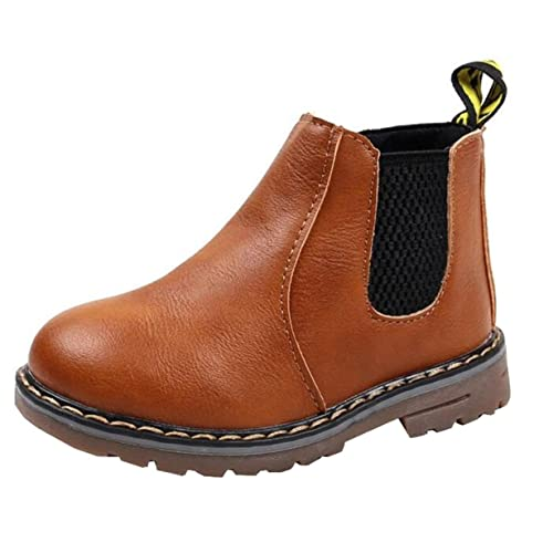 huge selection of e8c5c 943d4 DADAWEN Boy s Girl s Waterproof Side Zipper Short Ankle Winter Snow Boots