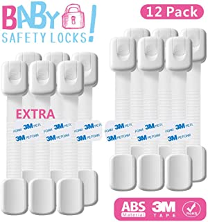 Chengstore para Seguridad de beb/és y ni/ños Cierres de Seguridad para ni/ños escuelas Apto para hogares residenciales hospitales Ventosa de Seguridad al vac/ío para Ventanas y Puertas