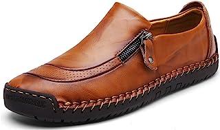 Moodeng Mocasines Hombres Casuales Holgazanes Slip On Plano Cuero Loafers Casual Zapatos de Conducción Zapatillas Zapatos ...