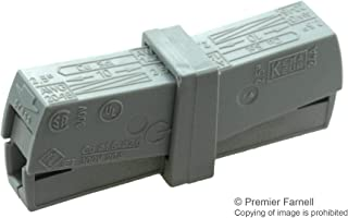 224-201 - Standard Terminal Block, Grey, 224 Series, 2 Contacts, Terminal Block, Cable Mount, 16 AWG, (Pack of 50) (224-201)