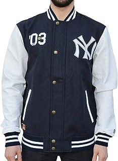 caf0c7c8e971 A NEW ERA Ne90102fa16 CT Letterman Neyyan Chaqueta-Línea York Yankees,  Hombre