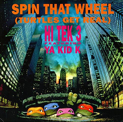 """SPIN THAT WHEEL 12"""" SINGLE UK BROTHERS ORGANISATION 1989 3 TRACK 12"""" PIZZA MIX B/W 7"""" PIZZA MIX AND 12"""" PIZZA DUB MIX (12BORG16) PIC SLEEVE"""