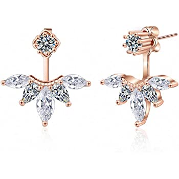 Stud Earrings For Women Female 2019 Boucle DOreille Crystal Flower Clover Earring Gold Bijoux Jewelry Brincos Mujer