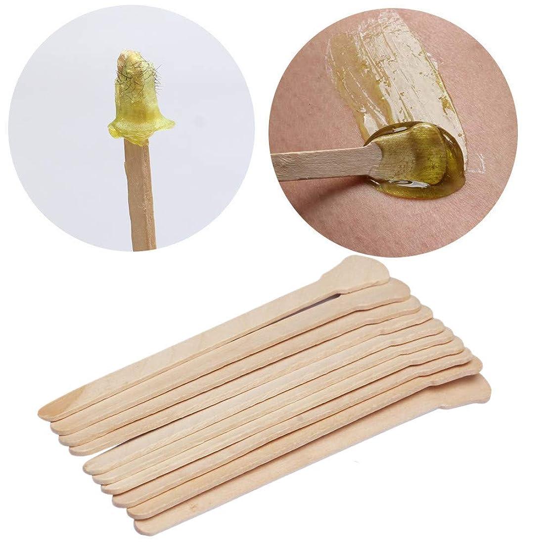 迷彩あたたかい非常にKingsie 使い捨て スパチュラ 木製 50本セット 脱毛ワックス用 12.5cm アイススティック棒 化粧品 フェイスマスク、クリームなどをすくい取る際に ワックス脱毛
