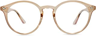 In Style Stylish Oversized Blue Light Blocking Reading Glasses, Classic Round Lens Frames, No Magnification
