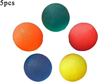 5 Pack Multiple Resistance Therapy Exercise Gel Squeeze Balls for Hand Finger Wrist Muscles Arthritis Grip Exerciser Stren...