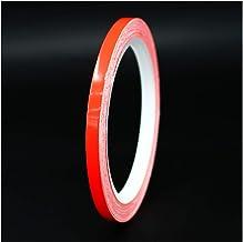 Siviwonder Zierstreifen rot reflektierend Reflex Aufkleber 15mm L/änge 10m Auto Reflexband red