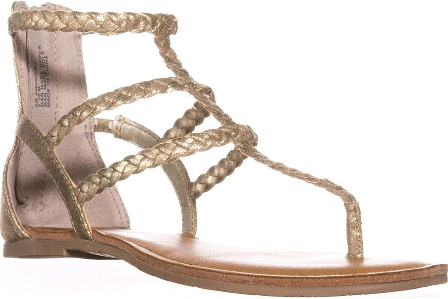 American Rag Womens Madora Open Toe Casual Ankle Strap Sandals, gold, Size 8.5