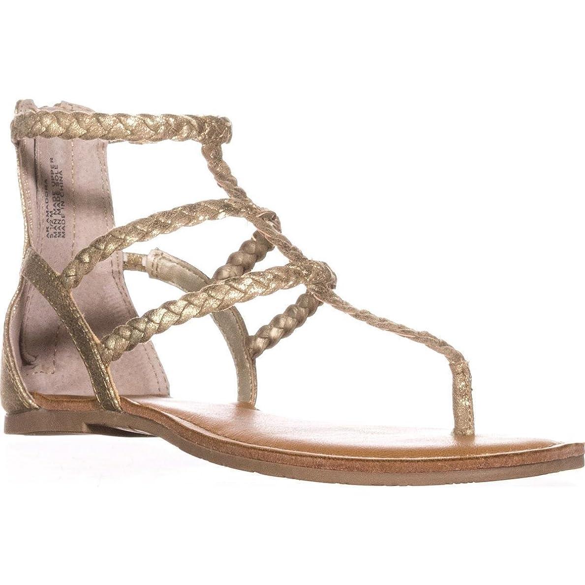 操縦する請求可能責任American Rag Womens Madora Open Toe Casual Flat Sandals, Gold, Size 7