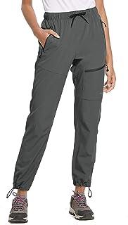 شلوار زنان BALEAF شلوار پیاده روی حمل و نقل سبک وزن سبک و مقاوم در برابر آب Capris UPF 50+