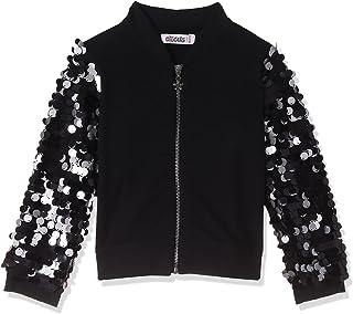 Giggles Sequin Embellished Long Sleeves Zip-Up Jacket for Girls
