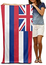 Product Home Hawaii State Flag Men's Beach Towel, Pool Towel,Sport Towel,Thick, Soft, Quick Dry, Lightweight, Absorbent