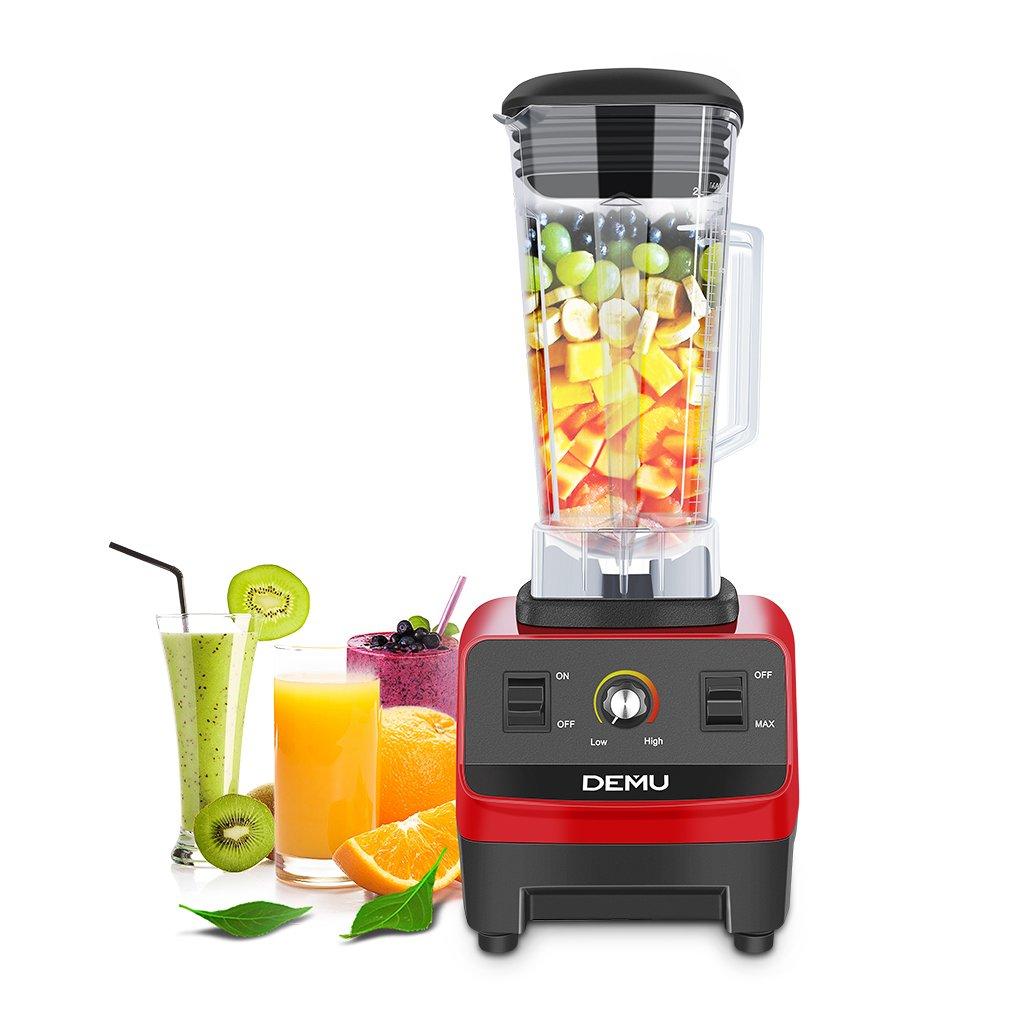 demu batidora licuadora para Smoothies profesional 2200 W 2.0L licuadora multifuncional de alta potencia mezclador sin BPA para batido, fruta, verduras, hielo y molinillo de grano: Amazon.es: Hogar