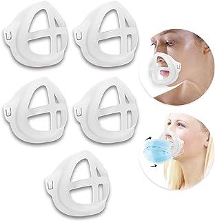 Koccido 3D Mask Bracket,5 Pcs Protect Lipstick Lips Mask Bracket Internal Support Frame,Nose Breathing Smoothly Face Mask Bracket
