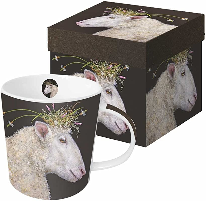 Paperproducts Design Featuring The Art Of Vicki Sawyer Bianca Gift Boxed New Bone China Mug Multicolor 13 5 Oz