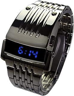 Iron Man Digital Watch Stainless Steel LED Watch Men's Boys Bracelet Watch Military Sports Watch LED Wristwatch for Men