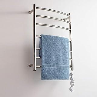 HL Toallero eléctrico, Calentador eléctrico termostático toallero radiador de baño, Calentador eléctrico de Toallas de Carril Cromado Escalera de baño Radiador