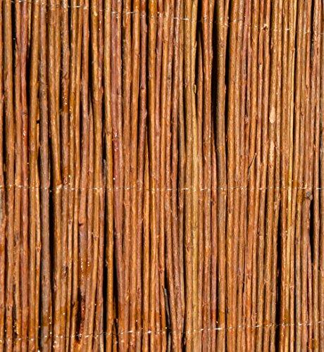 Weidenmatte Sichtschutzmatte Weidenzaunmatte für Garten Balkon & Terrasse 500cm x 200cm, Papillon
