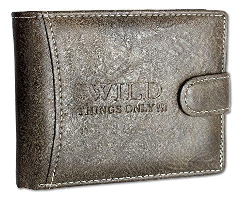 Mannen portemonnee portemonnee voor heren Trifold portemonnee met muntvak muntenbeurs portemonnee met vergrendeling en drukknop horizontaal formaat 1142.1.