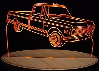 ValleyDesignsND 1972 Chevy Pickup Truck Cheyene Super Acrylic Lighted Edge Lit 11-13