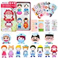 68PCS Magnetic Dress-Up Play Dolls Set with Jobs, Perfect for Preschool Learning, Perfect for Kindergarten, Family, Home Decoration Cultivate Creativity, Language Expression Cooperation skills Ages 3+ by EDLAVA