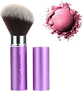 Retractable Angled Face Blush Bronzer Makeup Brush