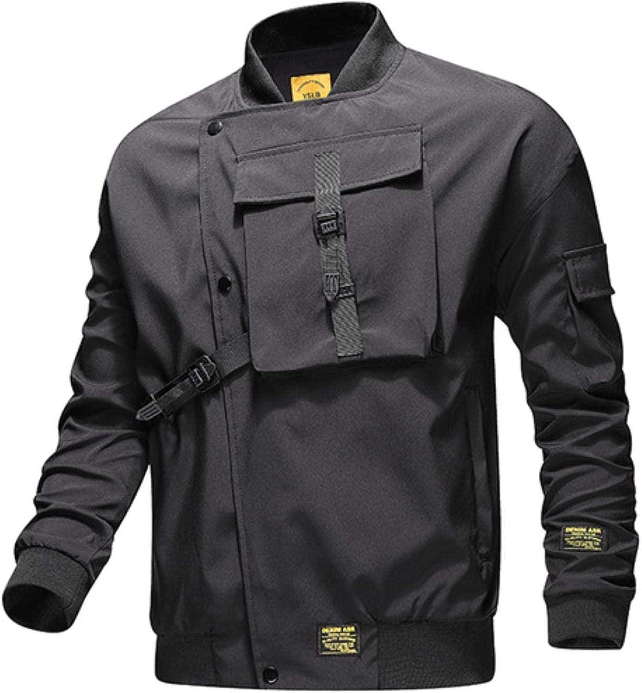 men outwear autumn windbreaker patchwork casual streetwear coat 4xl