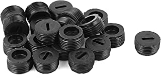 uxcell 13mm Male Thread Carbon Brush Screw Holder Cap Cover 20PCS
