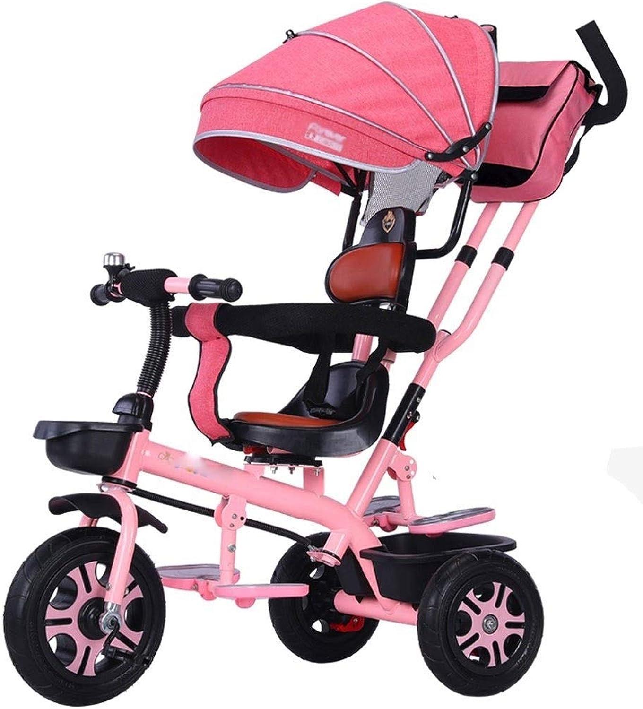 Jixi Tricycle Convertible réglable de Tricycle des Enfants avec l'auvent Sac de Mahomme Sac de Poussette approprié à 16 Ans (Couleur   F)