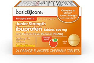 Basic Care Junior Strength Ibuprofen Tablets, 100mg, 24 Count
