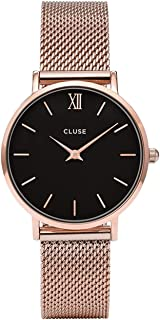 CLUSE Womens Analogue Classic Quartz Connected Wrist Watch with Stainless Steel Strap CL30016