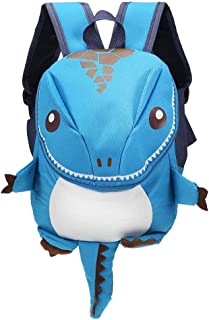 GMKJ Children's Cartoon Backpack Cartoon Dinosaur Backpack Children Kids Kindergarten School Bag (Color : Blue)