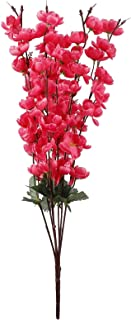 プリザーブドフラワー 7フォークピーチの花シミュレーション花造花シルクブーケ本当のタッチ花の家の結婚式の装飾的な花輪 アートフラワー (Color : Rose Red)