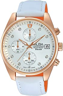 Alba Leather Casual Watch For Women , AM3230X