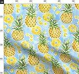 Tropisch, Obst, Hawaii, Sommer, Wasserfarben, Ananas,