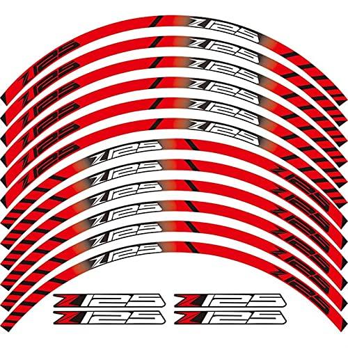 Motocicletas Etiqueta Reflectante para Motocicletas Pegatinas Ruedas Reflectante Rim Moto Stripe Tape para Todos para Kawasaki Z125 (Color : 4)