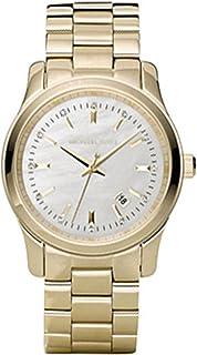 Michael Kors Runway Women's White Dial Stainless Steel Band Watch - MK5303