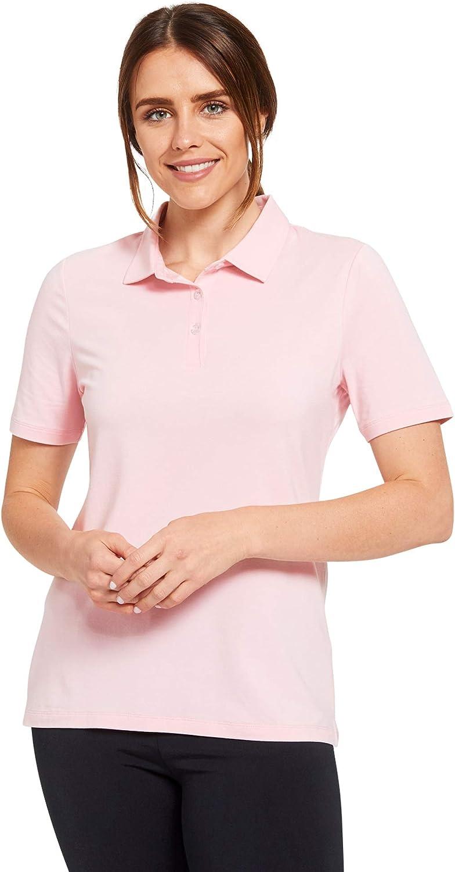 Solbari UPF 50+ Women's Sun Protection Short Sleeve Polo Shirt Sensitive Collection - UV Protection, Sun Protective