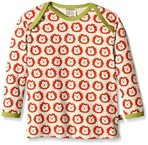 loud + proud Baby-Unisex 275 Sweatshirt, Rot (Sunrise su), 128 (Herstellergröße: 122/128)