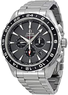 Omega Aqua Terra Chronograph GMT Grey Dial Stainless Steel Mens Watch 23110445206001