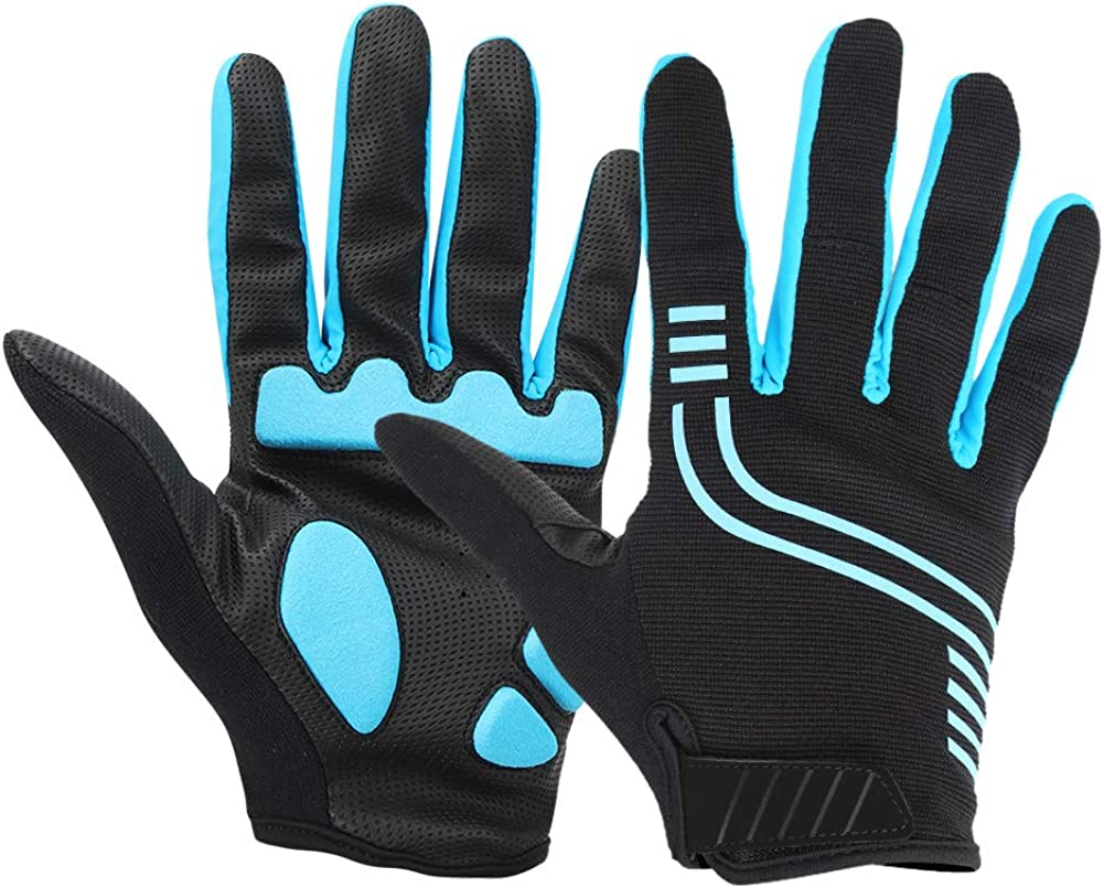 Wallfire Outdoor Summer Bike Cycling Breathable Full Fingers Gloves for Mountain Bicyclesilver black XXL