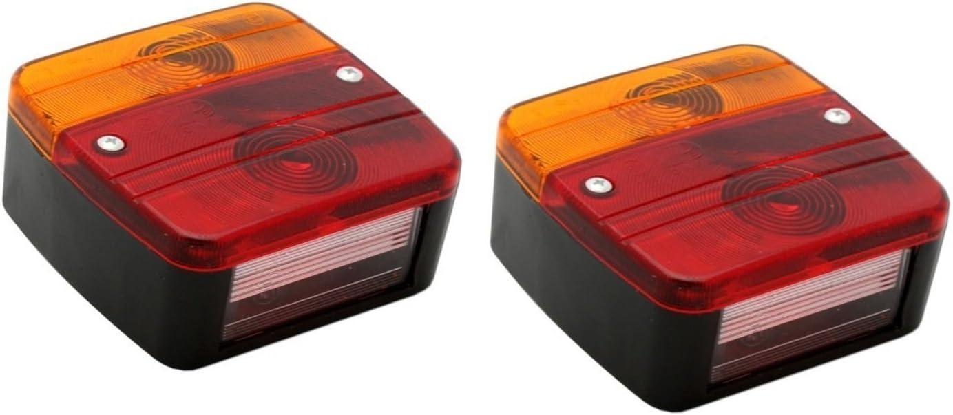 Hillfield Universal Rücklichter Rückleuchten Für Kfz Anhänger Komplett Mit Glühlampen 2 Rücklichter Auto