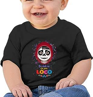 Washed Cotton Baby Boy Girls Shirt Coco Cute Summer T Shirt Funny