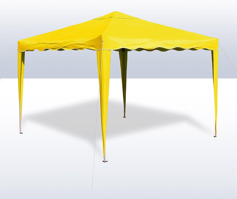 DEMA Alu Metall Faltpavillon 3x3 Meter Gelb
