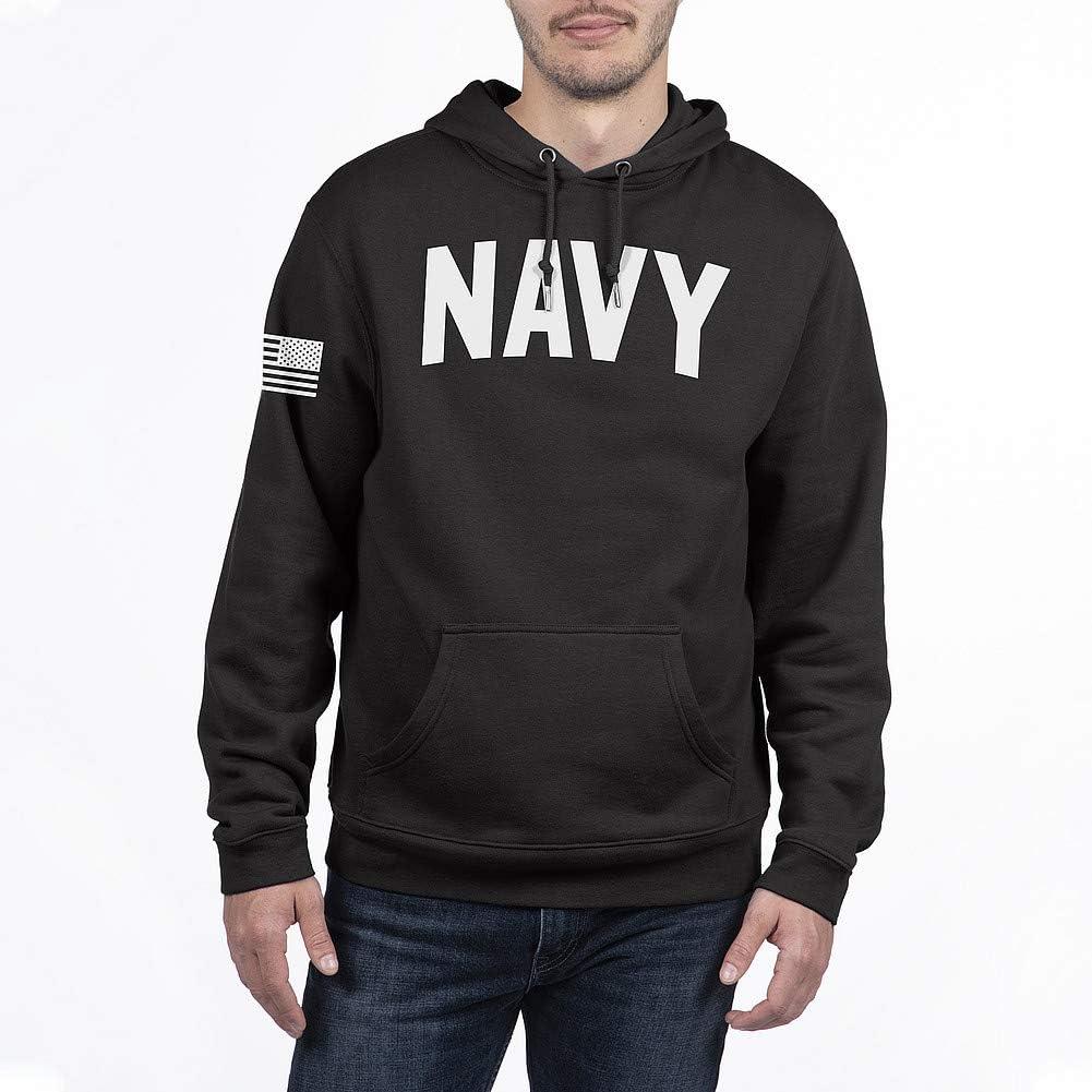 Elite Fan Shop Military Hoodie Sweatshirt Black
