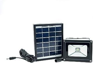 comprar comparacion FG - Foco LED con panel solar para iluminación externa, con batería integrada de 2000 mAh (4 LED, 2 W, 5 V)